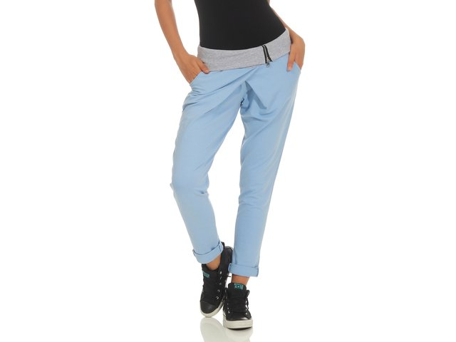 Jogginghose in Wickel Optik Baggy 3318 (hellblau)