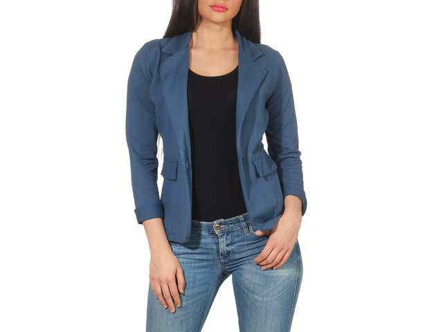 Jersey Blazer in Unifarben 1654